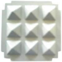 Pyramid Chips - White (P-8) 2.25
