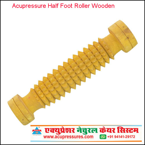 Acupressure Half Foot Roller (Wooden)